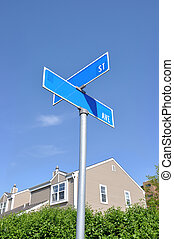 Street Sign Suburban Neighborhood