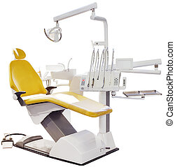 Dentist Chair - Modern Detist Chair Isolated with Clipping...