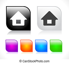 Buttons for web. Vector. - Color plastic buttons for web....