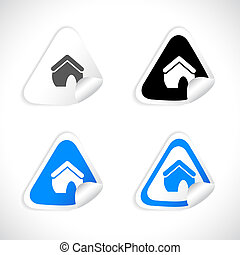 Stickers for web Vector - Set of beautiful paper stickers...