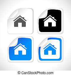 Stickers for web. Vector. - Set of beautiful paper stickers...