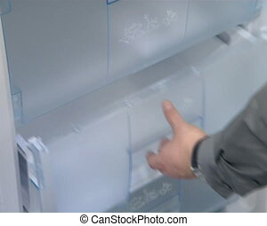 product demonstrate shop - refrigerator cabinet door and...