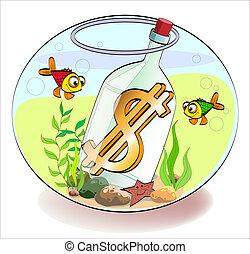 Dollar in a bottle