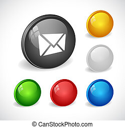 Color 3d buttons for web. - Color 3d round buttons for web....