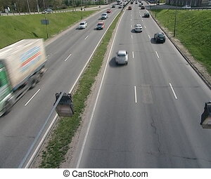 vilnius automobiles road - vilnius city transport traffic....