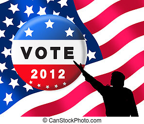 American presidential elections banner promting you to vote
