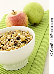 healthy granola and fresh fruits - delicious and healthy...