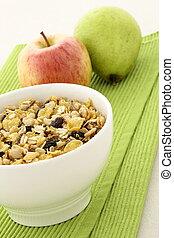 sano, granola, fresco, frutas