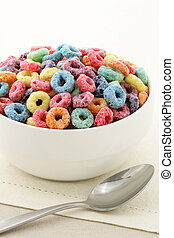 kids delicious and nutritious cereal loops or fruit cereal -...