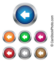 Left arrow buttons - Collection of left arrow buttons in...