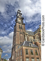 Westerkerk Amsterdam - The tower of the Westerkerk...