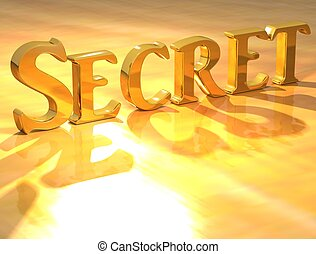 3D Secret Gold Text