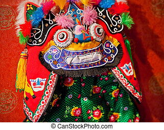 Chinese Colorful Souvenir Puppet Dragon Beijing, China