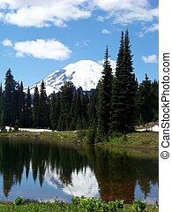 Portrait of Mt Rainier - A portrait of Mt Rainier as it is...