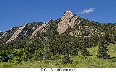 Boulder Colorado Flatirons - Chautauqua Park in Boulder...