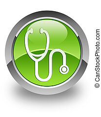Stethoscope glossy icon