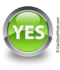 Yes glossy icon - Yes icon on glossy green round button