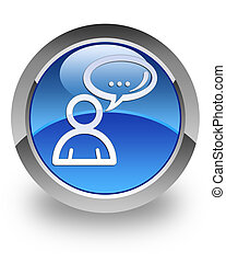 Social network glossy icon - Social network icon on glossy...