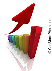 Success concept with red arrow
