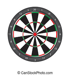 dartboard isolated over white background vector illustration...