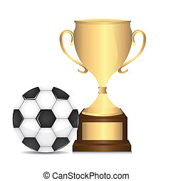 trophy with soccer ball