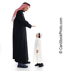 Arabic big and small, father and son