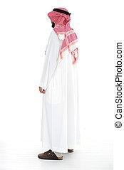 árabe, hombre, posición