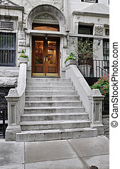 Limestone Brownstone Steps Entrance - Limestone Brownstone...