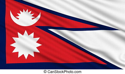 Nepal Flag. - Nepal Flag, with real structure of a fabric