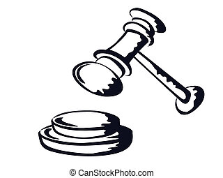 judge gavel,sketch shape,vector from - the doodle sketchy...