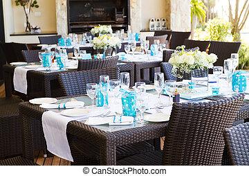 matrimonio, tavola, regolazione