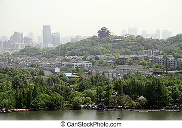 Hangzhou - View from Leifeng pagoda in Hangzhou