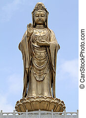 Guan Yin - Statue of godness Guan Yin in the Putoshan...