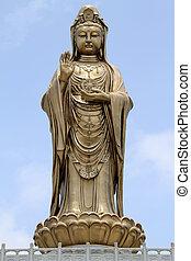 Guan Yin - Statue of godness Guan Yin in the Putoshan...
