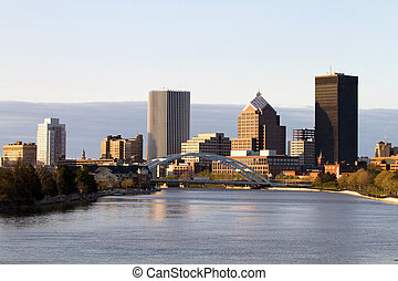 Rochester New York Skyline - Rochester, New York, USA...