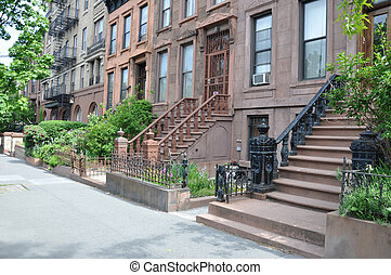 Brownstones New York - Brownstone Residential Neighborhood