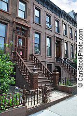 Brownstone Building Steps - Brownstone Residential Buildings...