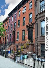 Brownstone Buildings - Brownstone homes in Brooklyn New York