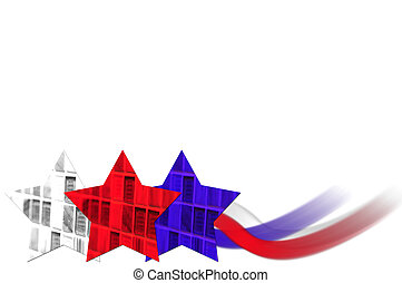 Red, white and blue background for July 4th - American...