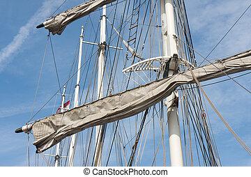Rigging of a big sailing vessel