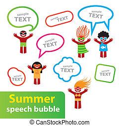Summer-speech-bubble