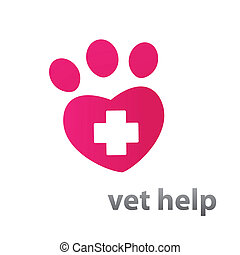 vet-help - Template mark veterinary care - in the form of...