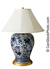 Luxurious Chinese lamp with clipping path
