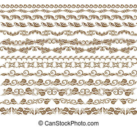 Horizontal elements decoration vector