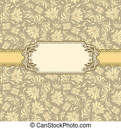 Template frame design for greeting card Seamless background...