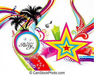 abstract colorful summer background vector illustration