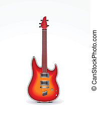 abstract guitar icon vector illustration