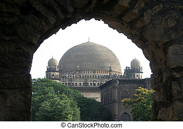 Framed Gol Gumbaz - Architectural Marvel, having the second...