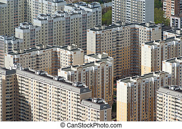 Panel houses in Moscow - Typical panel houses in Moscow,...