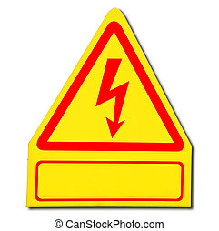 The Sign of danger of electricity from high voltage isolated...